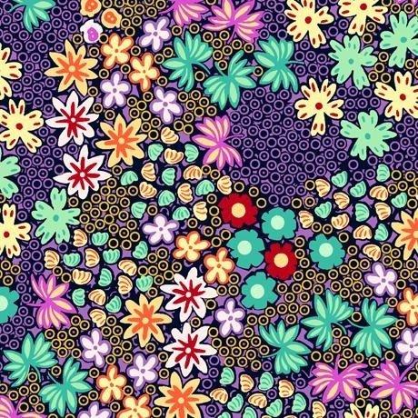 Adeline Packed Floral Navy 1649-27033-N