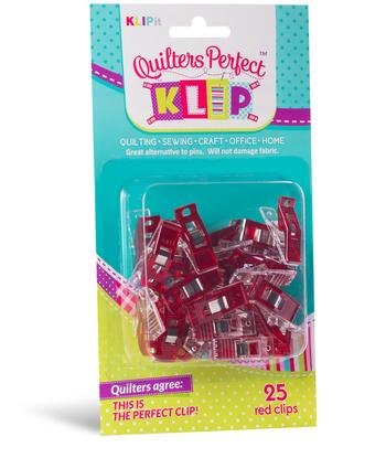 Quilters Perfect 25 Red Klips