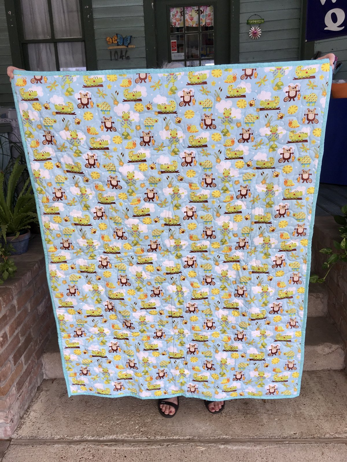 Baby Quilt with Animals 39 x 51