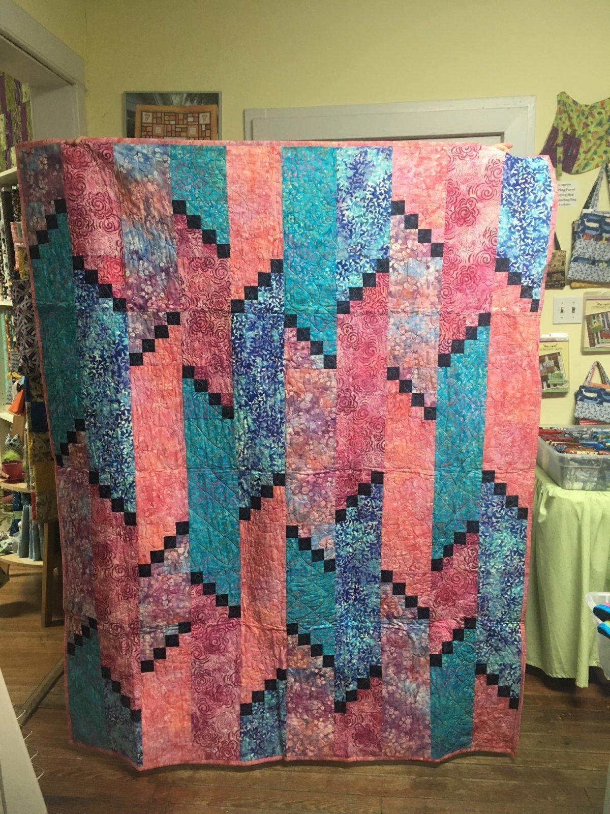 Batik Quilt 59 x 72