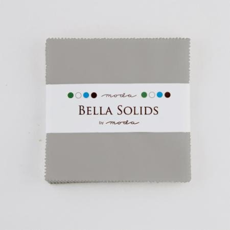 Bella Solids Charm Pack Silver