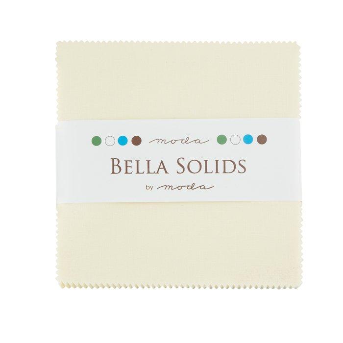 Bella Solids Charm Pack Snow 9900PP 11 Moda Precuts