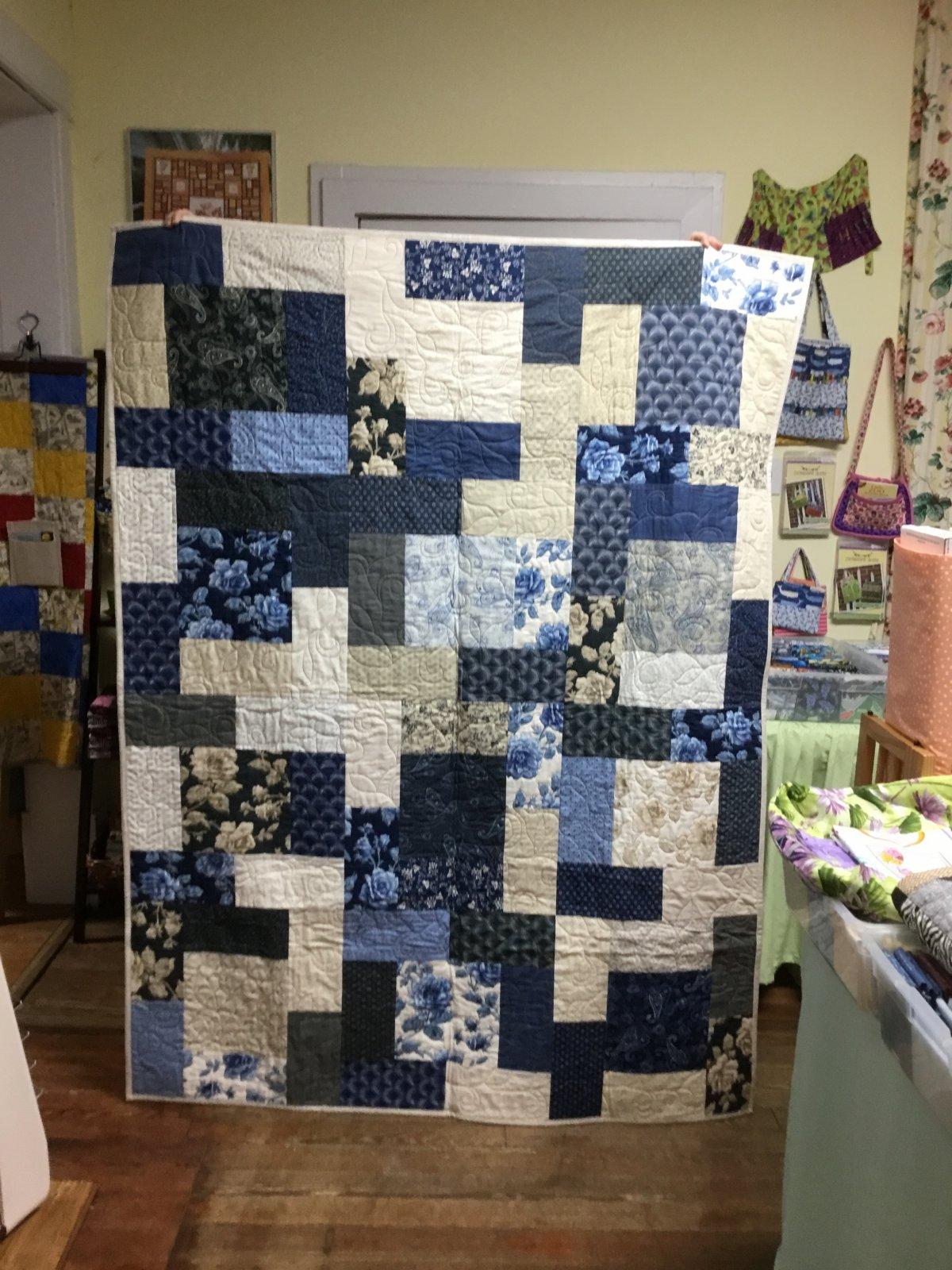 Blue Rose Quilt