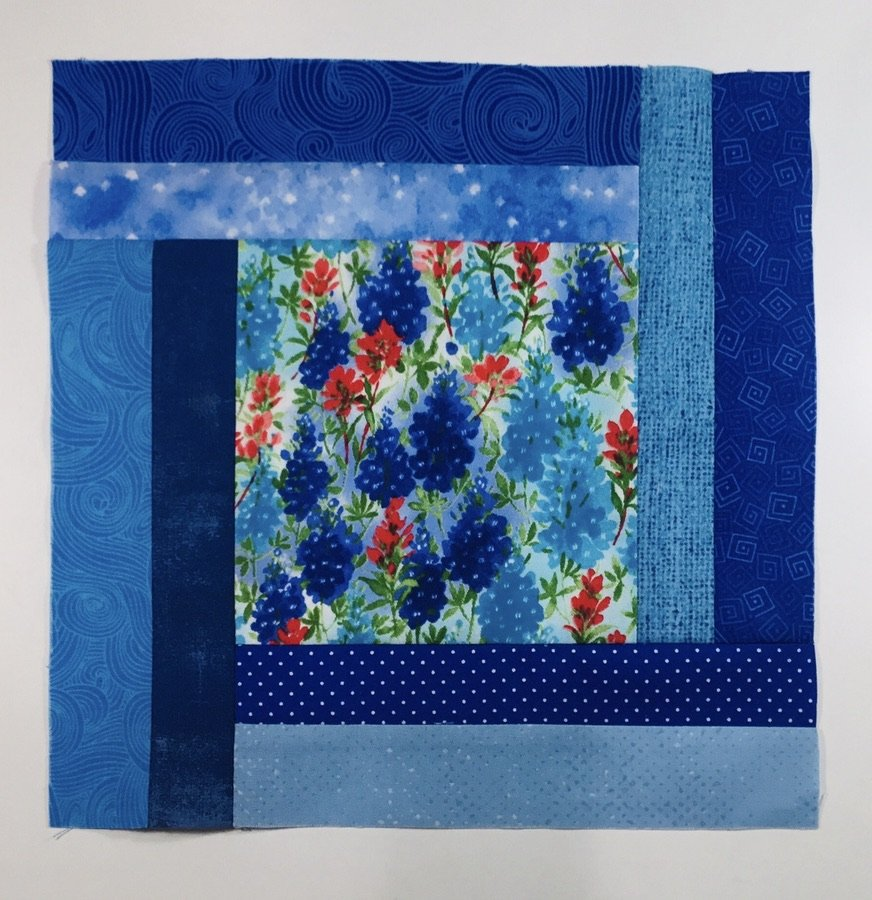 2020 Quilters Trek Block Kit #1 - Bluebonnets