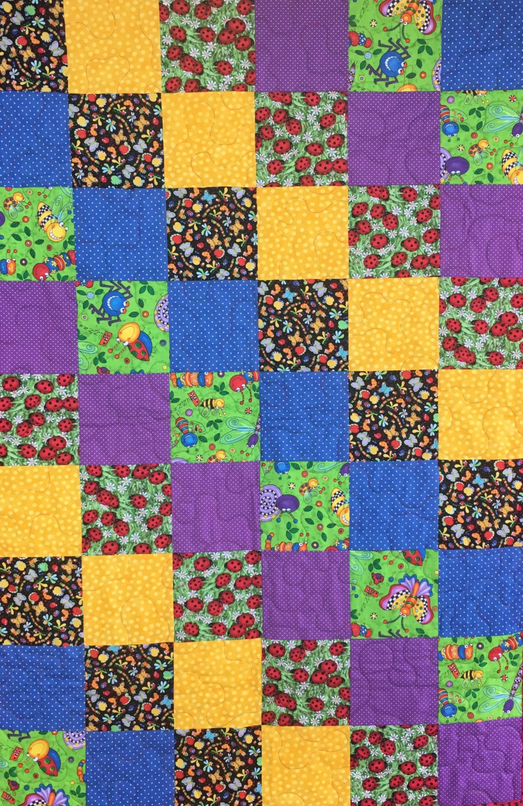 Cute Bug Quilt 36 x 45--Sunsprite Kit