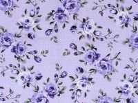 Elegant Blooms by Sue Penn / Purple / 100% Cotton / 45 wide CD-11001-007