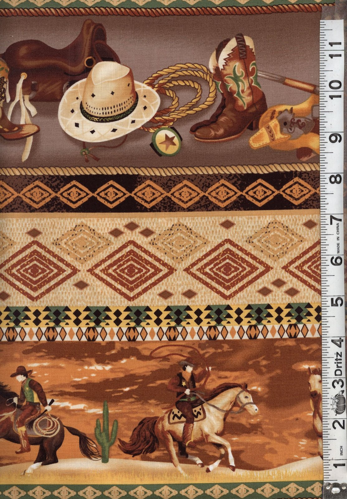 Roundup Cowboy Stripe by Fabri-Quilt 112-26401