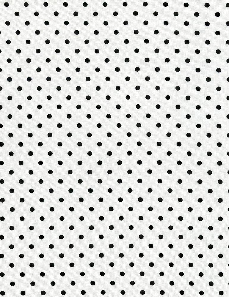 Black Dots Dot-C1820-White Timeless Treasures