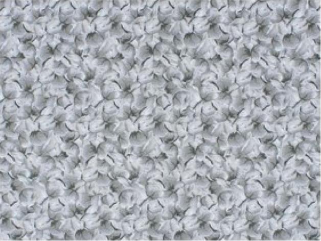 Elegant Blooms by Sue Penn / Gray Flowers / 100% Cotton / 45 wide 11002-003