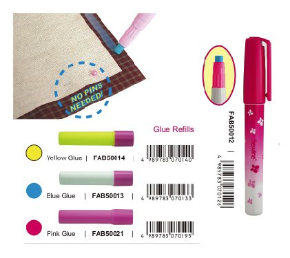Fabric Pink Glue Pen Refills