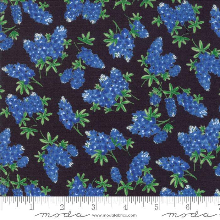 Fields of Blue Bluebonnets Black 33453-18