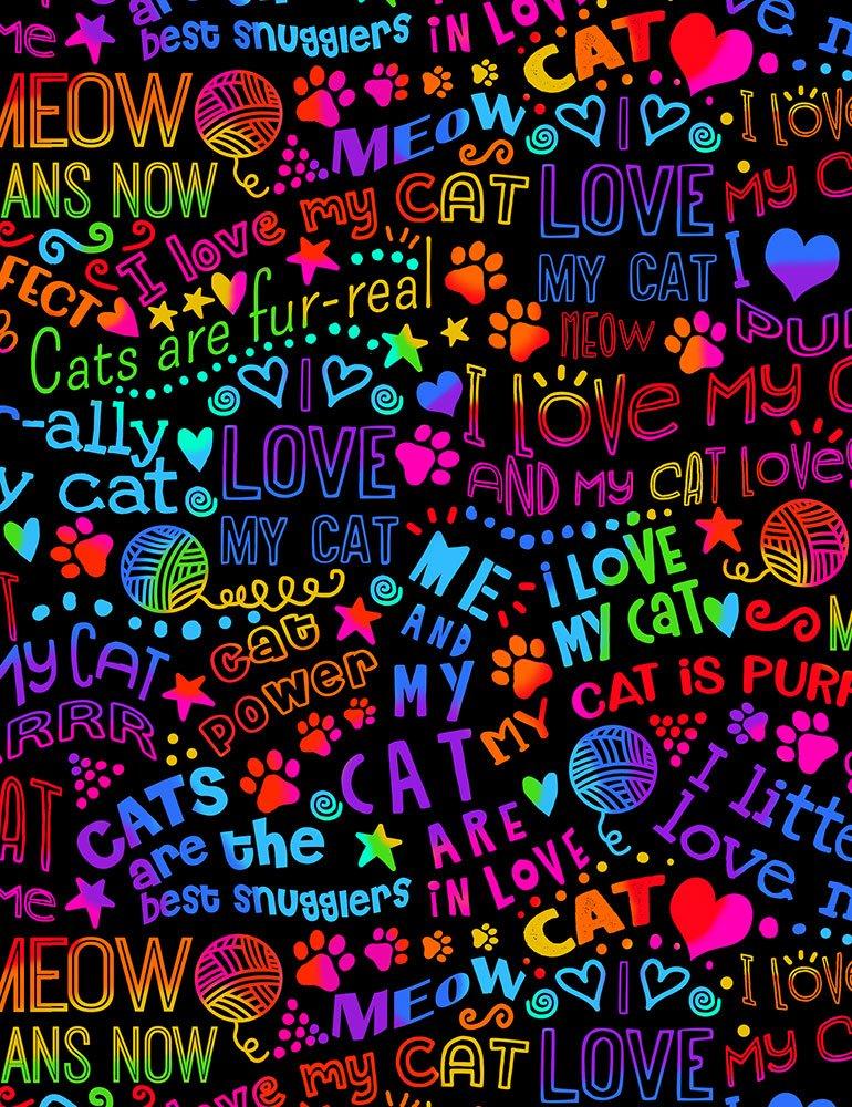 I Love My Cat Rainbow Outline Gail-C7038-Bright