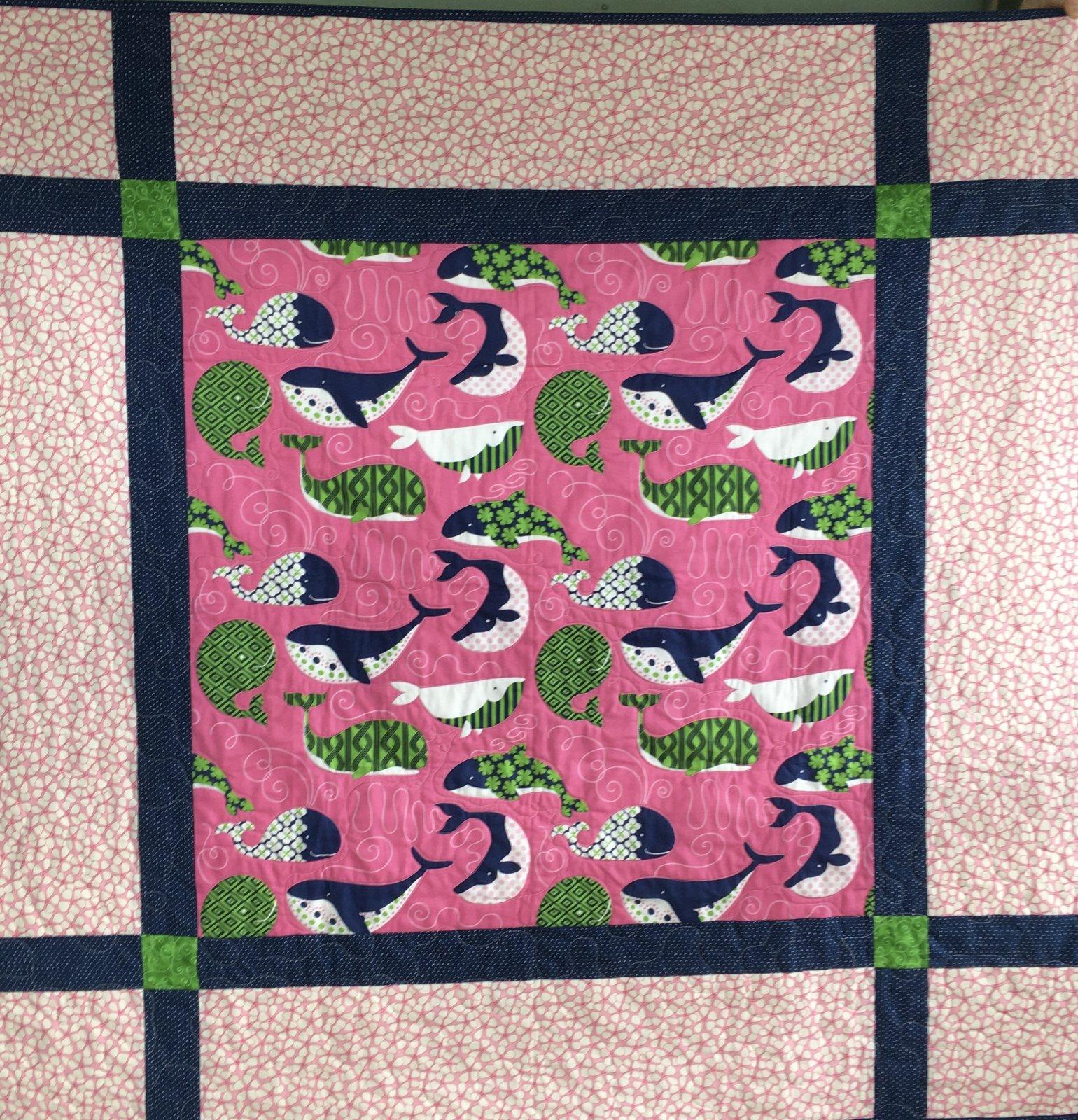 Whale Quilt 52 x 52