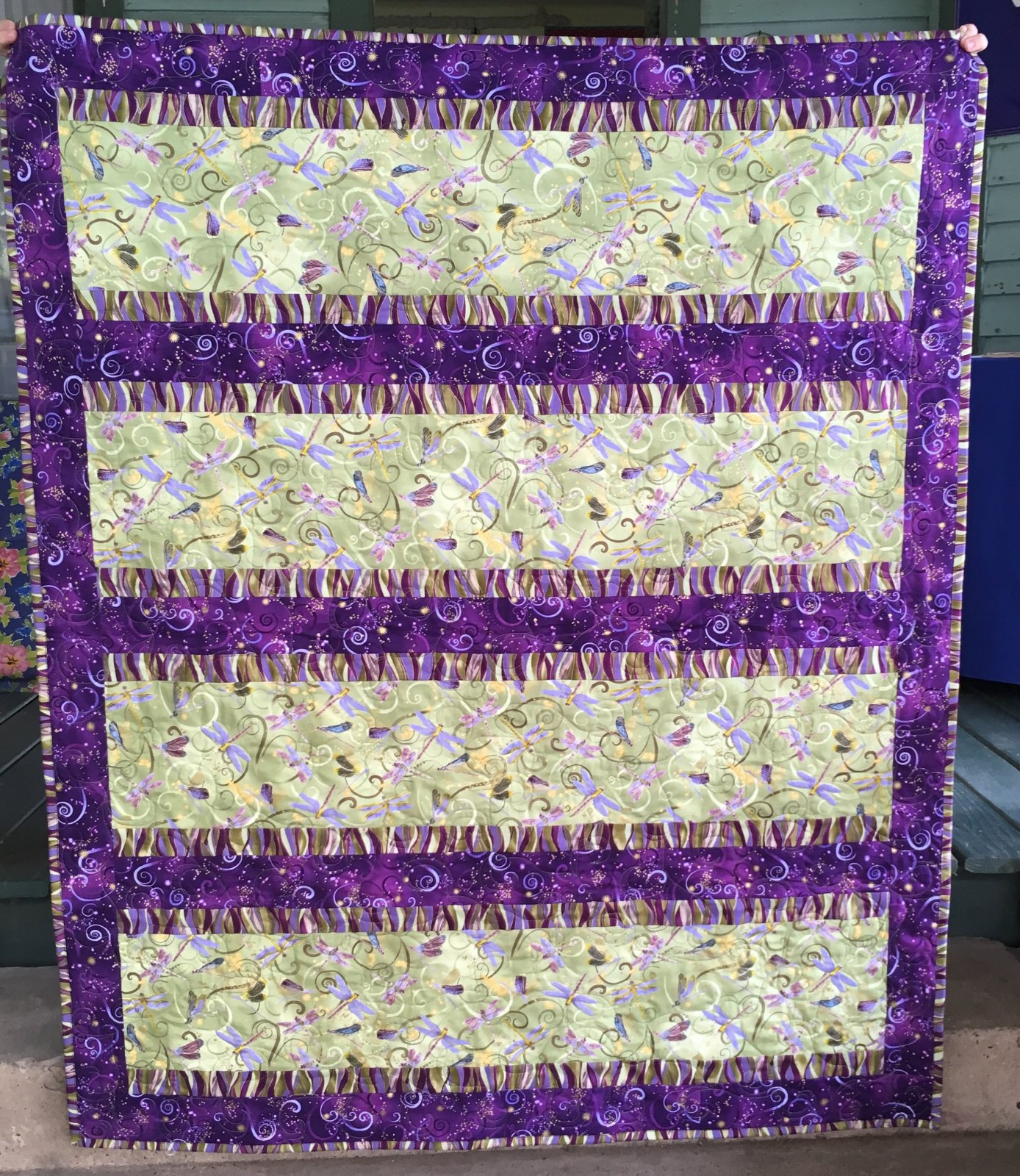 Radiance Dragonfly Quilt 48 x 58
