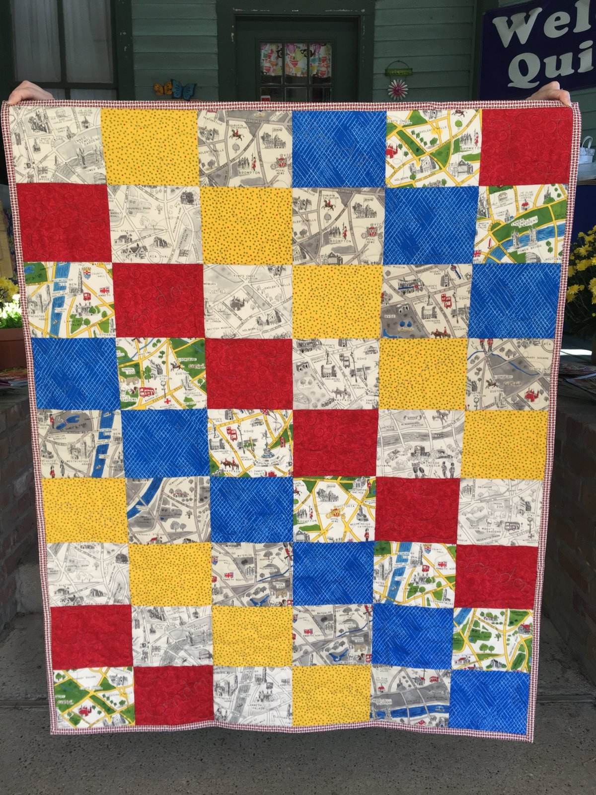 Sunsprite Quilt KIT--London Fabric