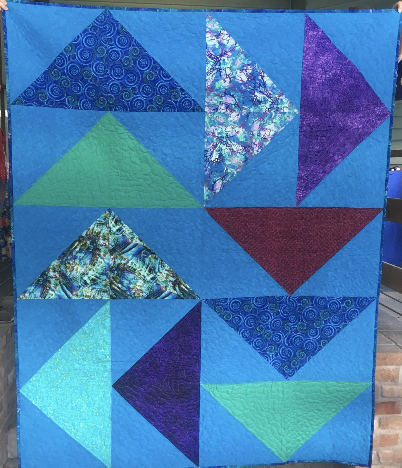 Large Flying Geese Quilt 63 x 79