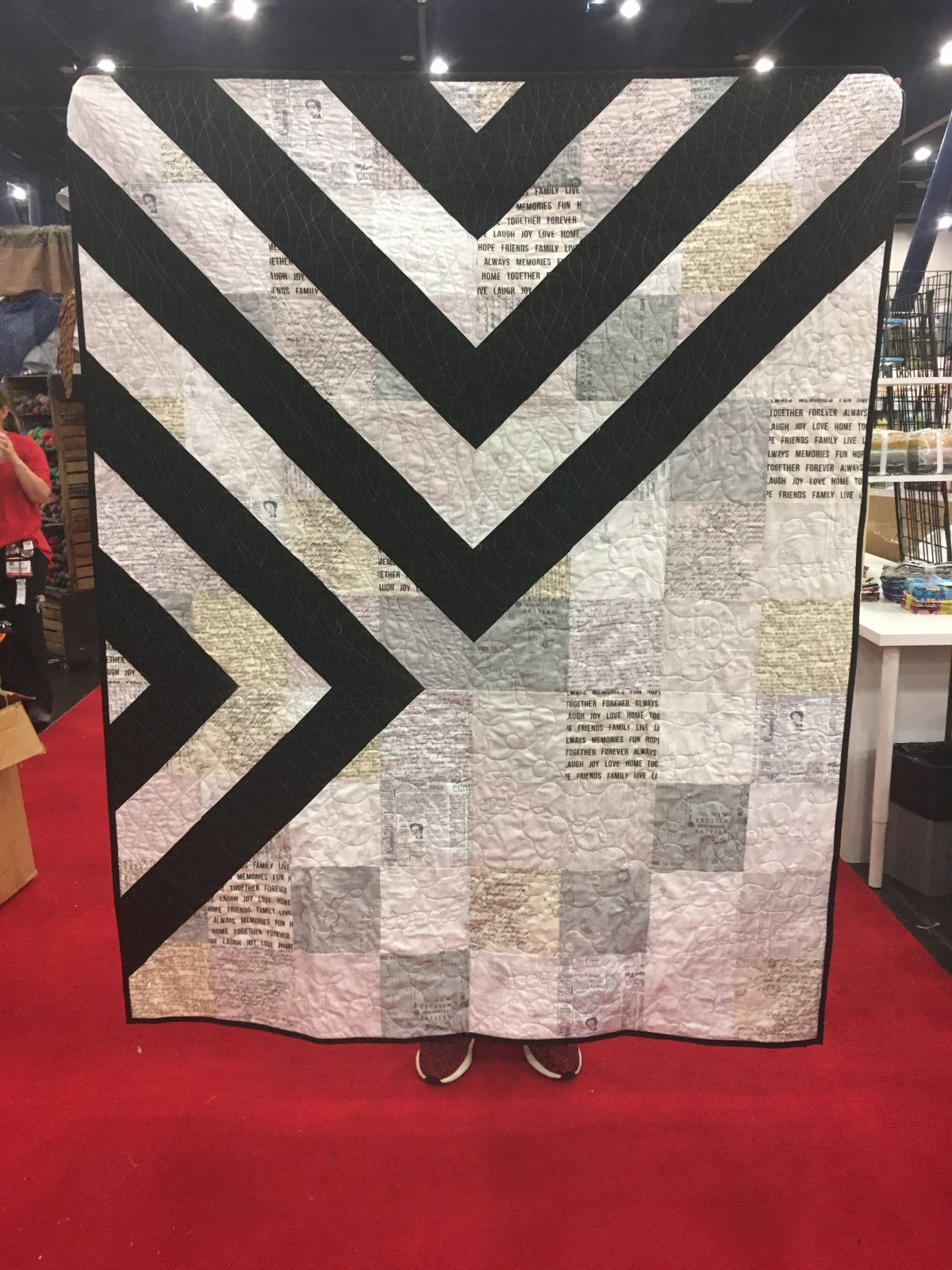 Crossroads Quilt KIT--Word Fabric