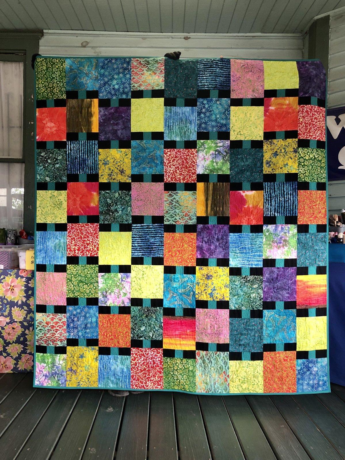 Beaded Quilt KIT--Batiks