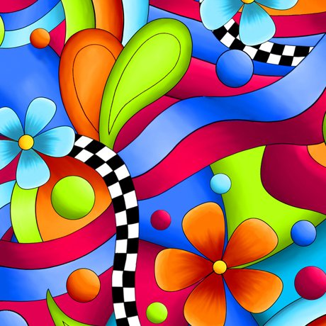 JUBILEE FLOWER & GEO Style # : 27348 -X  Color : MULTI