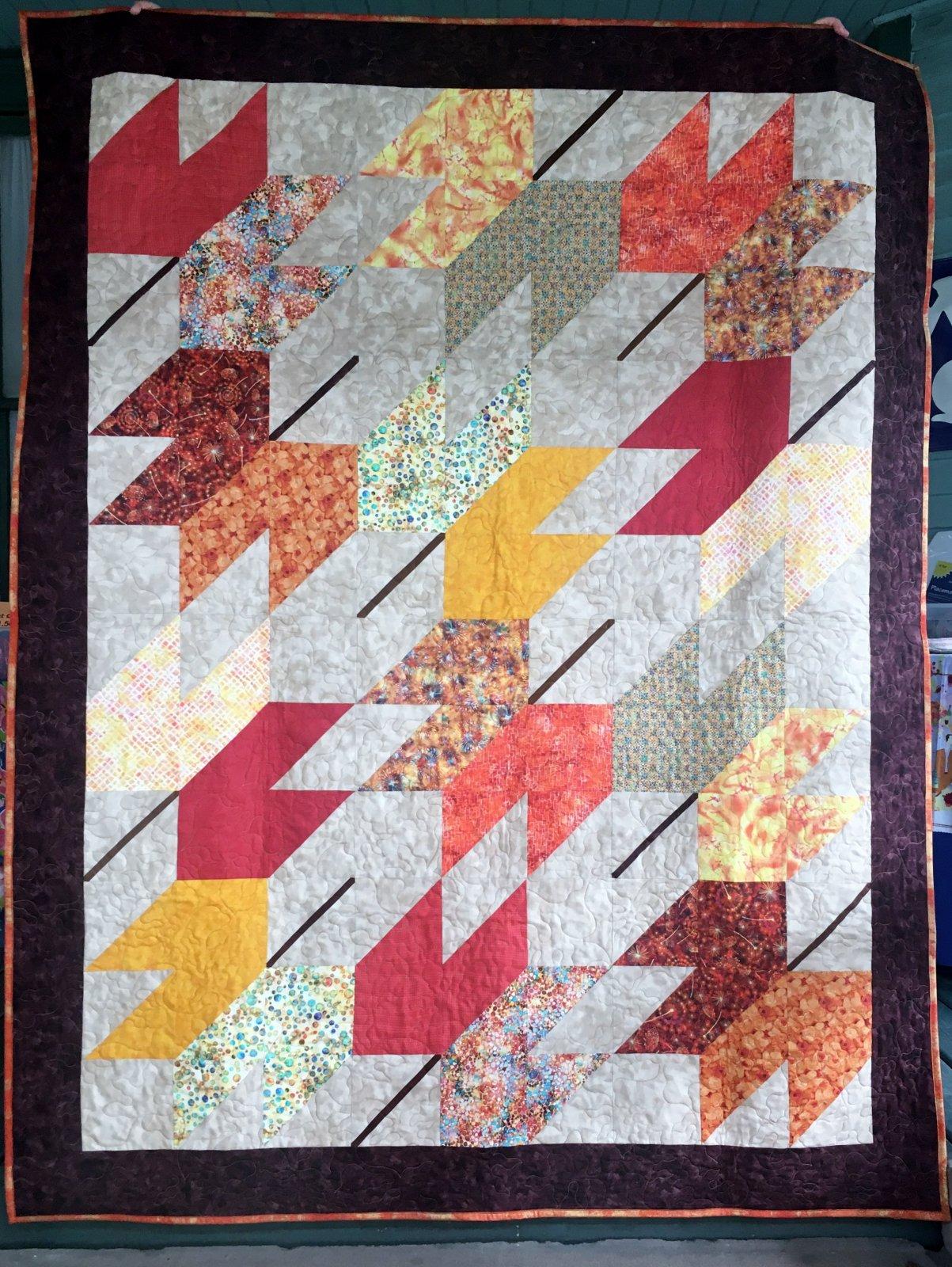 Falling Autumn Leaf Quilt Kit 63 x 81