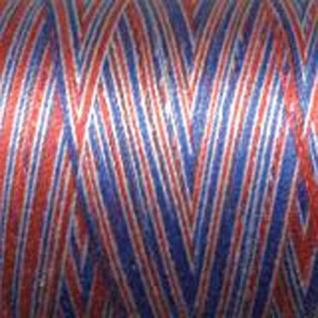 Aurifil Cotton Mako Thread 50wt 1300m MK50 3852 Liberty Red White Blue