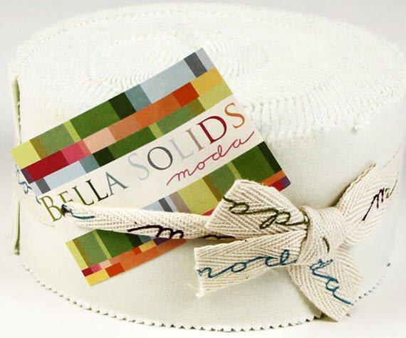MODA Bella Solids - Porcelain Jelly Roll