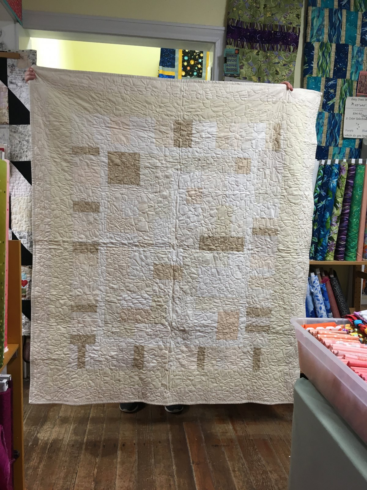 Yellow Brick Road Cream and White Quilt