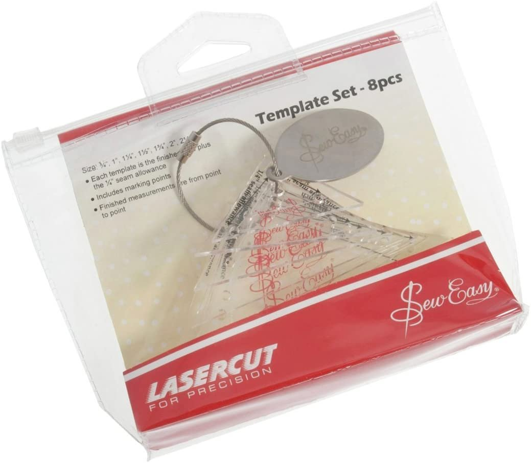 Mini Right Angle Triangles 8 piece Template Set by Sew Easy