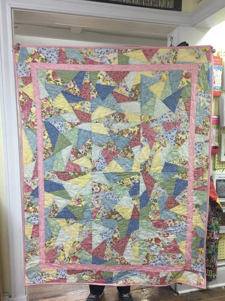 Pastel Crazies Quilt 55x67