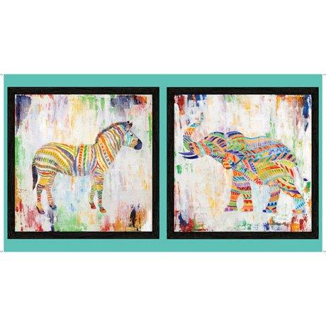 ARTWORKS XIII   RAINBOW ANIMAL PANEL  Style # : 27313 -X