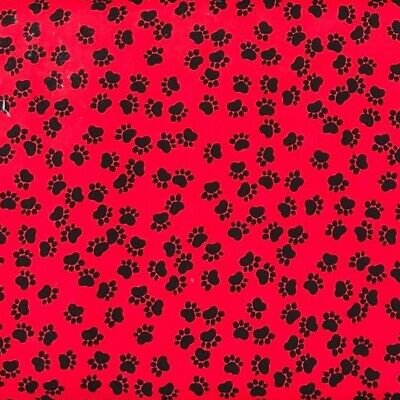 Mini Dog Paws Allover Red and Black ZD-73965-002 by Timeless Treasures