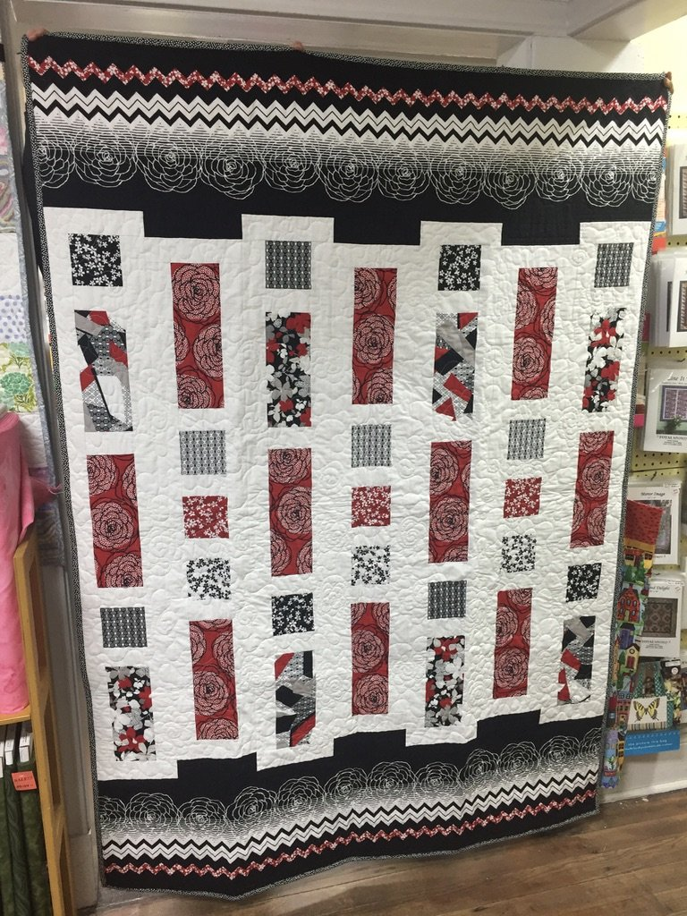 Red, Black and White Quilt