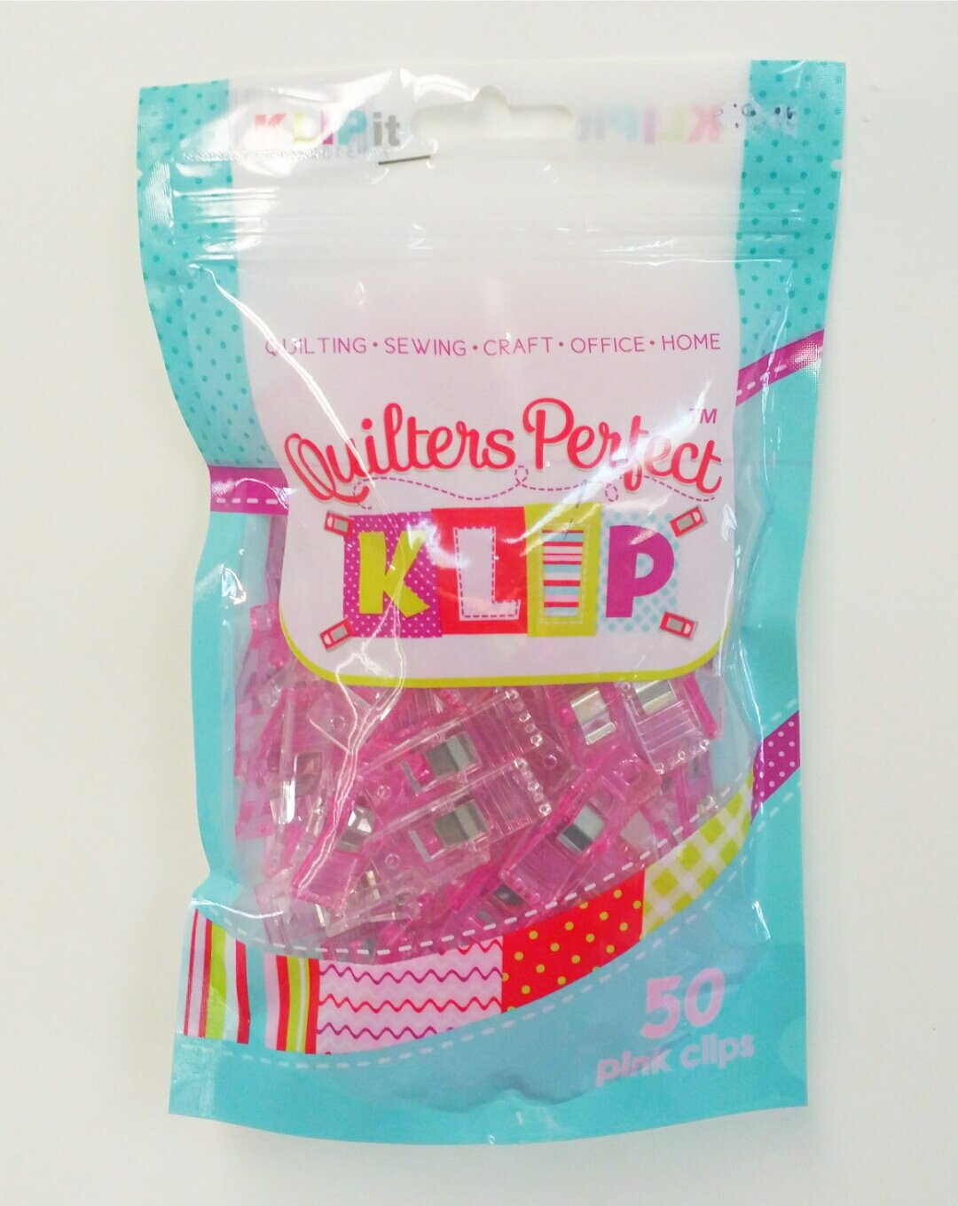 Quilters Perfect 50 Pink Klips