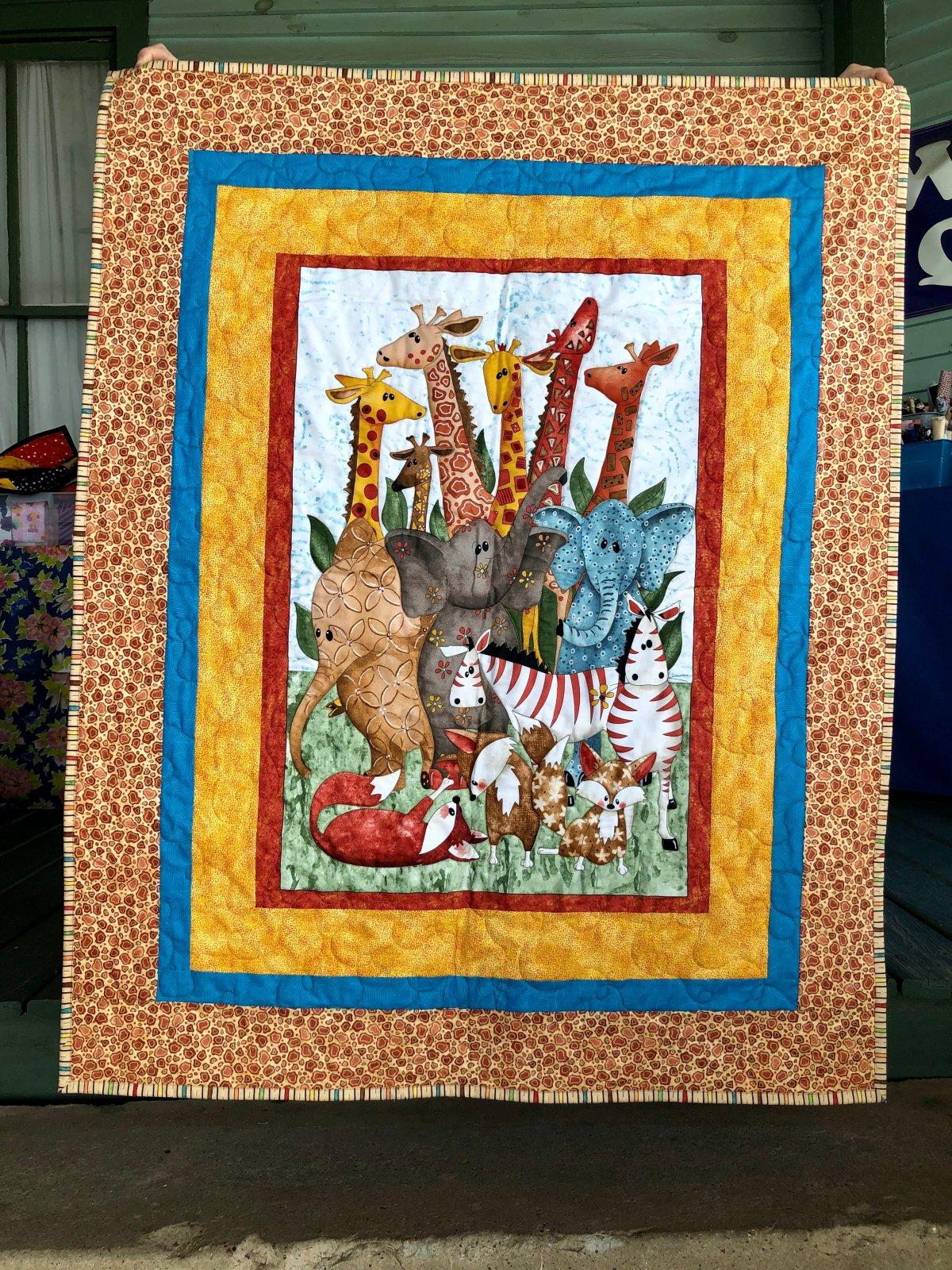 Safari Quilt 38 x 48