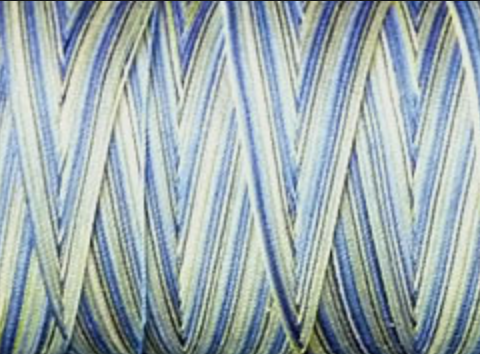 Aurifil Cotton Mako Thread 50wt 1300m MK50 4649 Lemon Blueberry