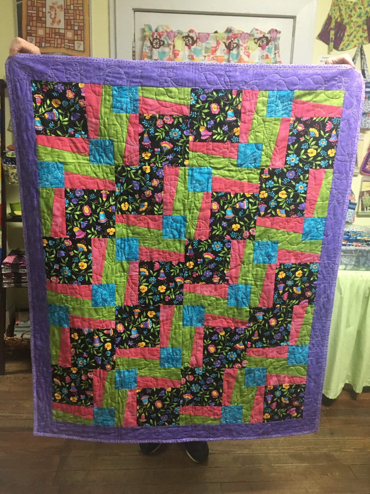 Small Floral BQ3 Quilt