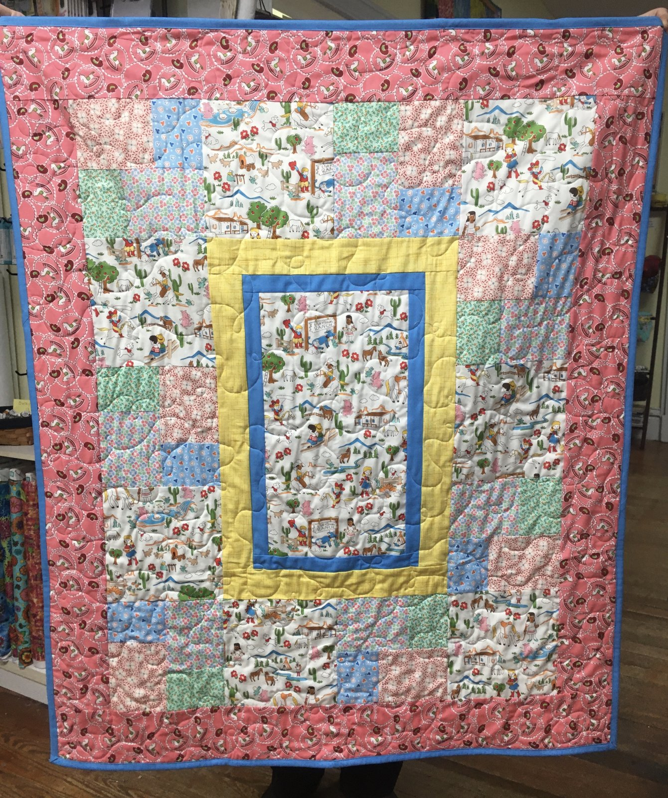 Storybook Ranch Quilt Kit  38 x 46