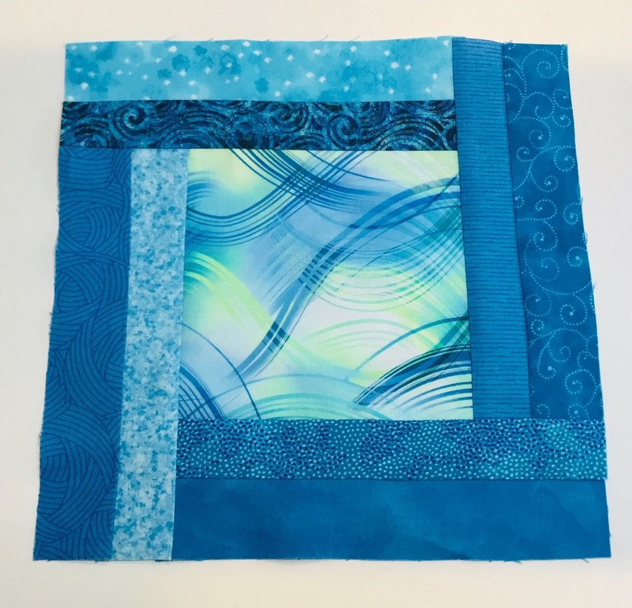 2020 Quilters Trek Block Kit #2 with Blue Swirls