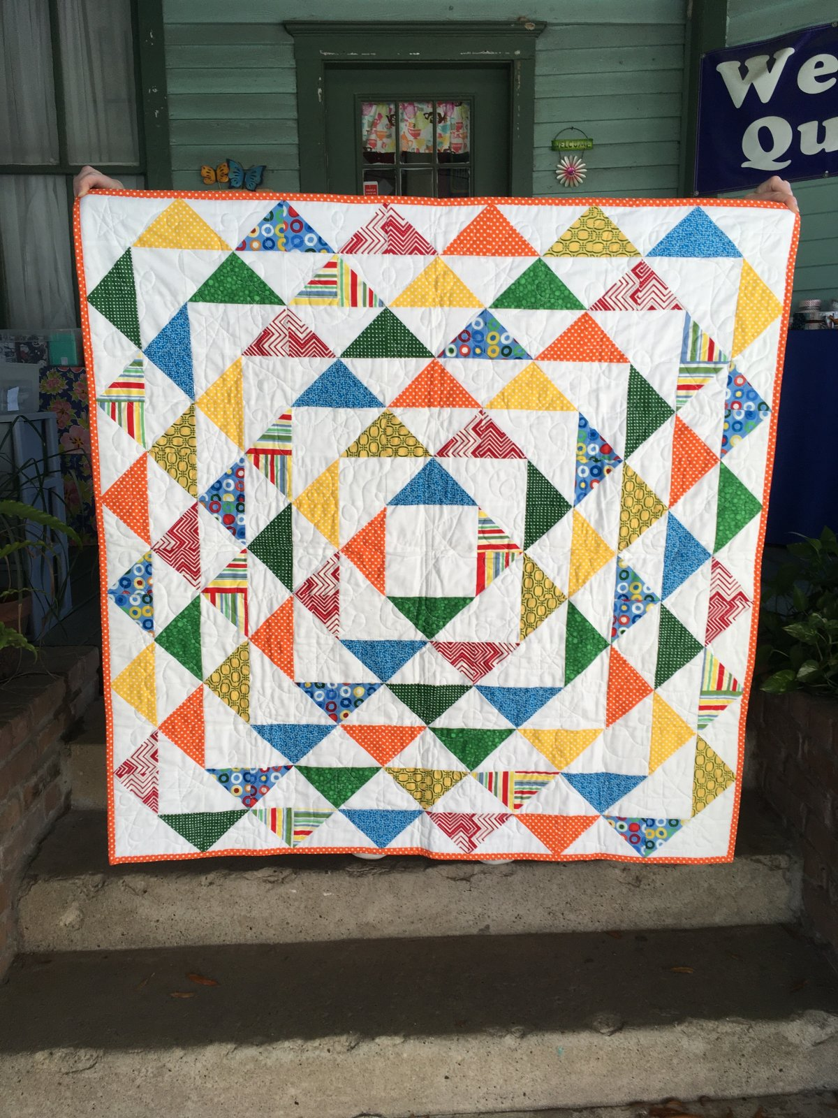 Triangle Treat Quilt 42 x 42