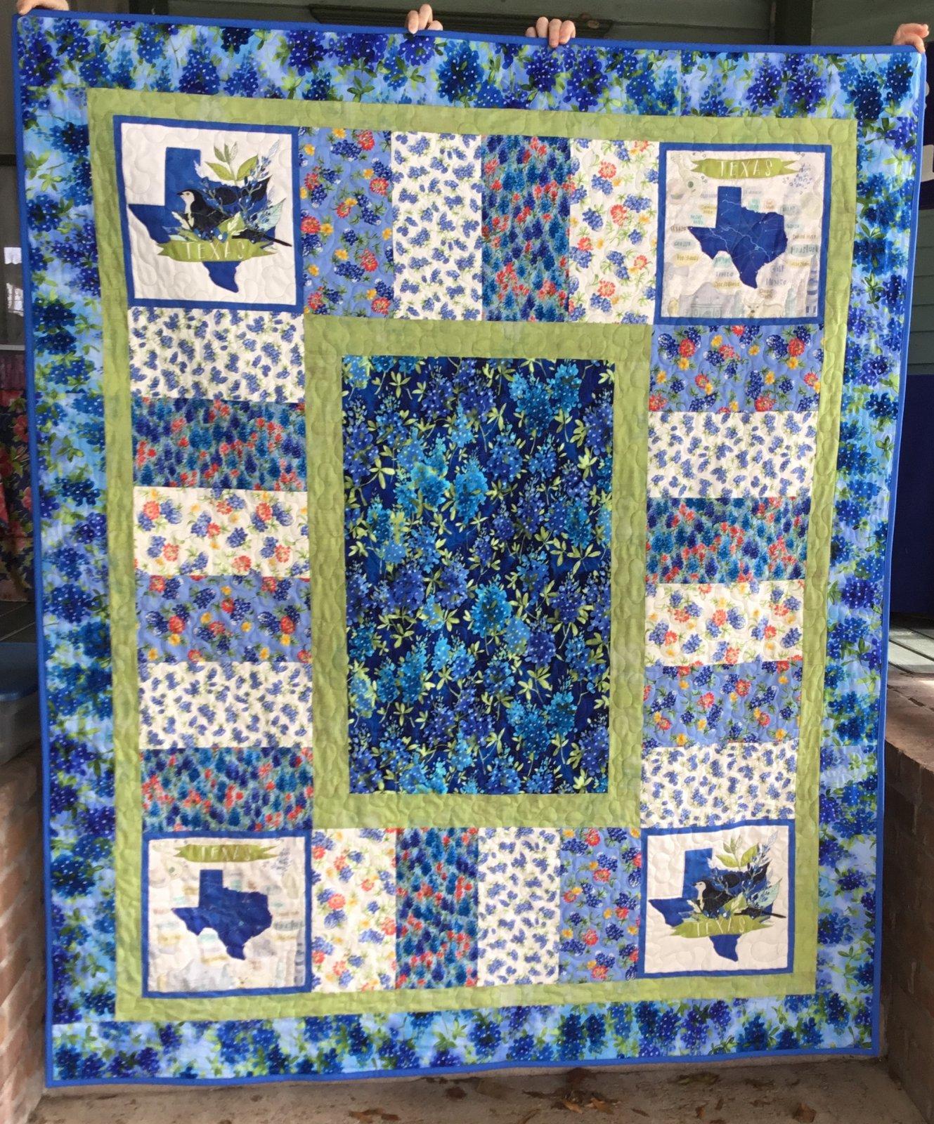 Texas Wildflower Eazy Piezy Quilt Kit 60x72