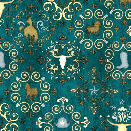 UNBRIDLED   WESTERN MEDALLIONS  Style # : 24694 -Q  Color : DK TEAL
