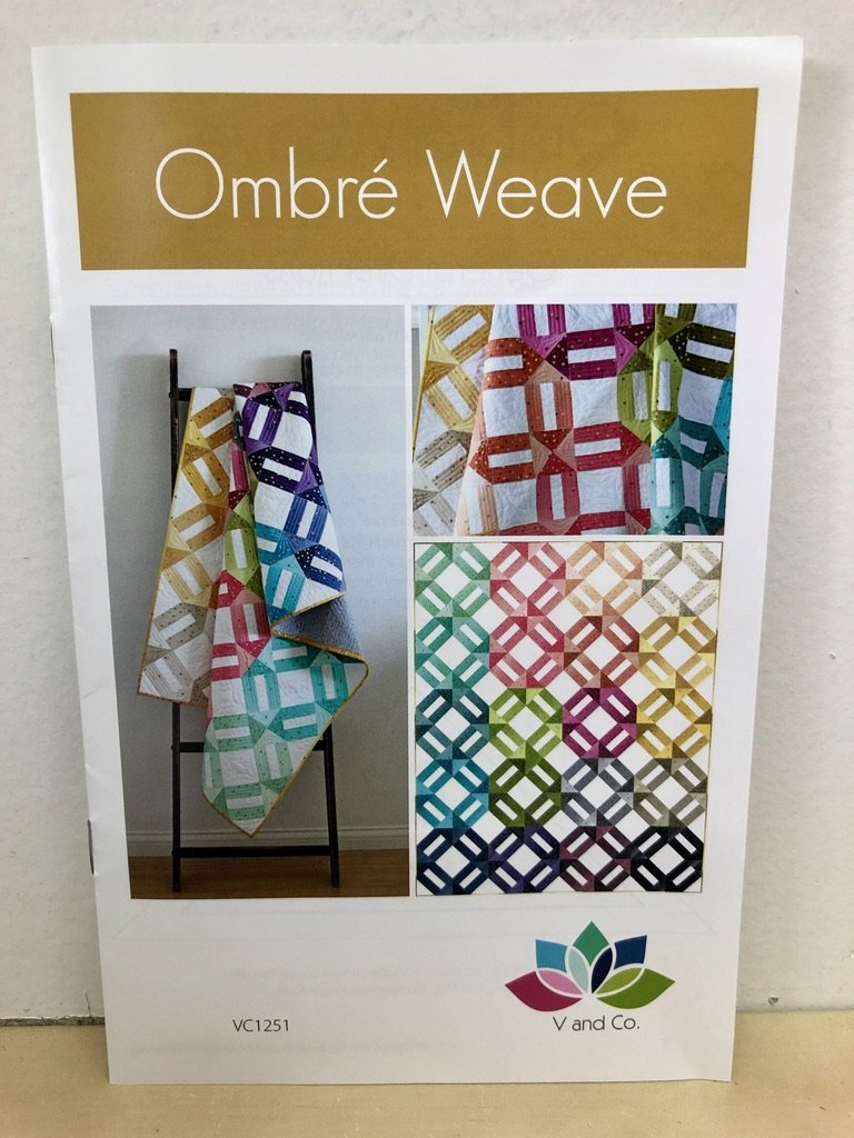 Ombre Weave Quilt Pattern by V and Co. #VC 1251