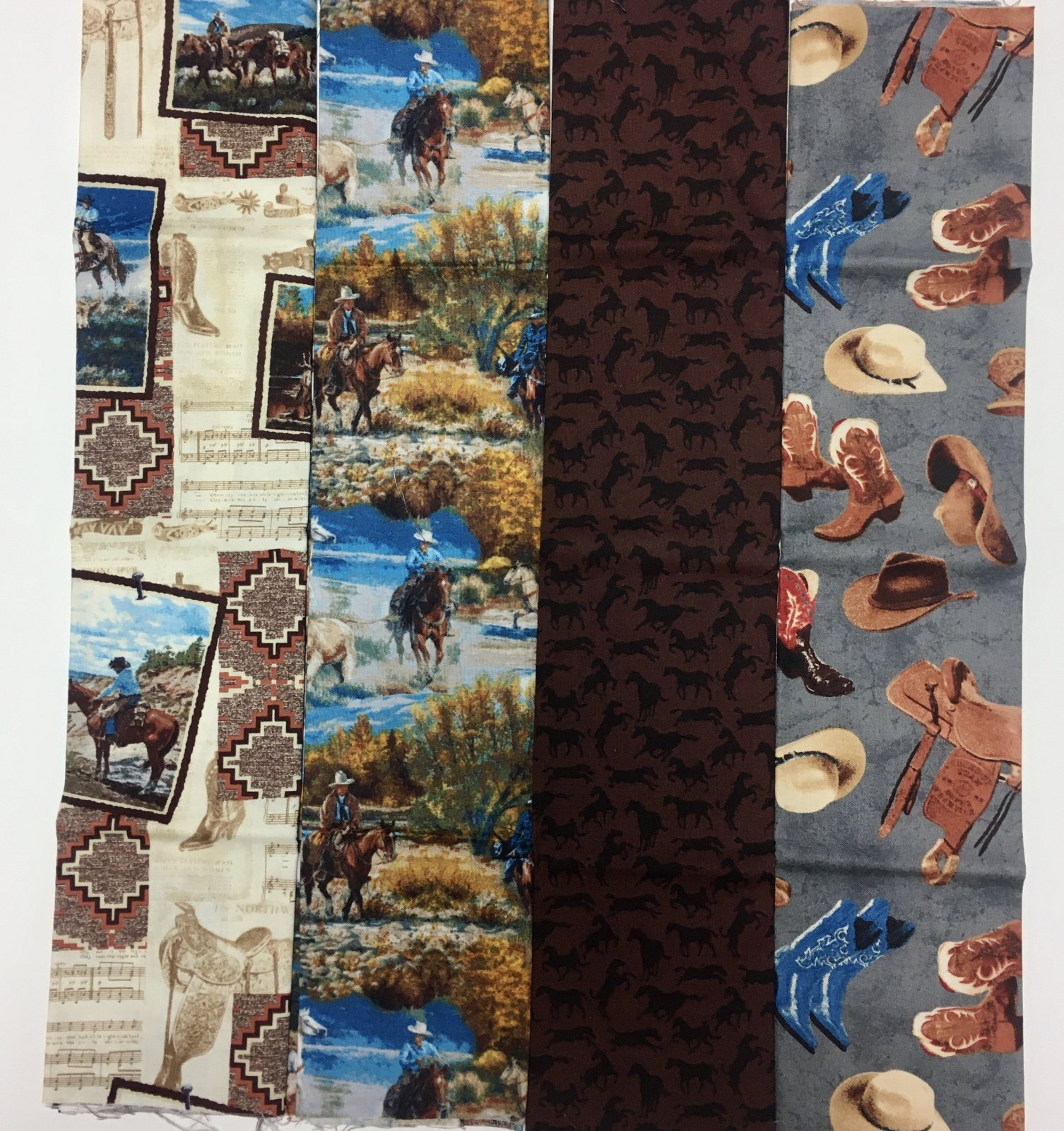 Assorted Cowboy Western Fat Quarter Bundle - 4 piece