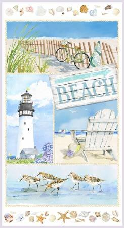 Coastal paradise - blue - panel