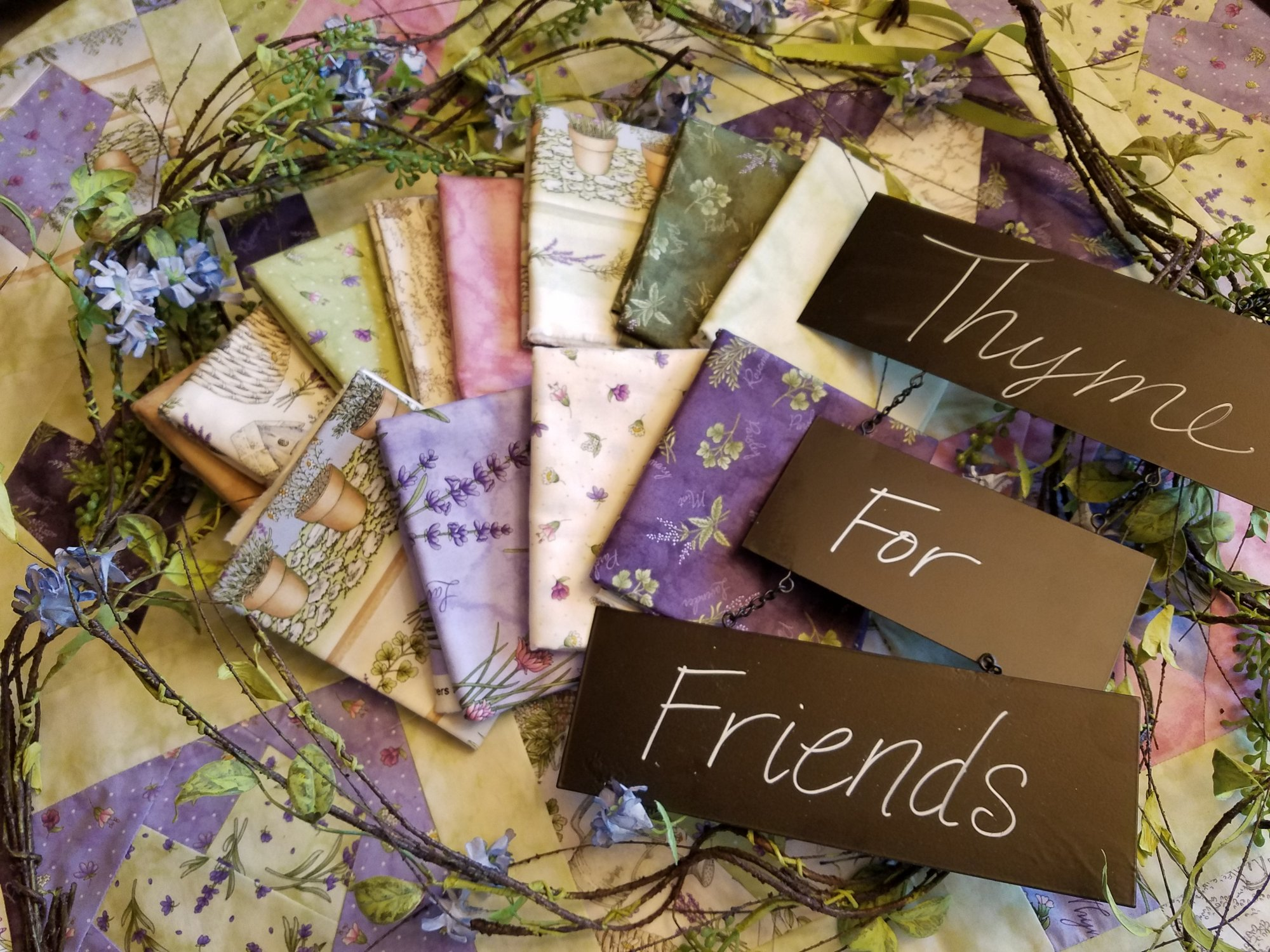 Thyme With Friends - 1/2 Yard Bundle (7)