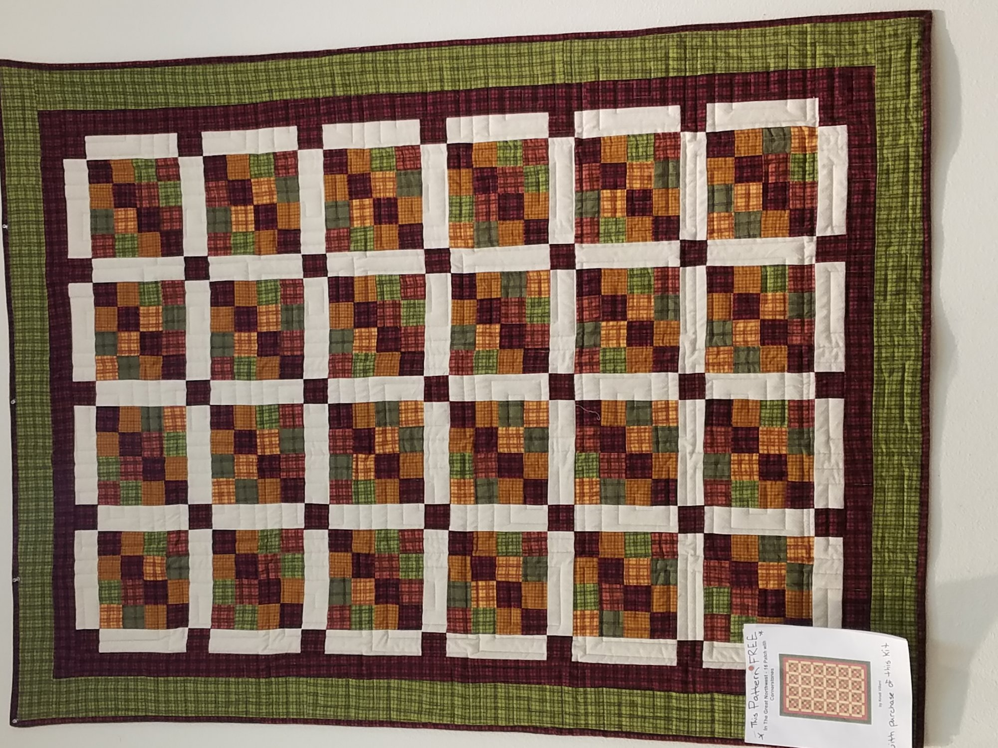 Kit - In the Great NW - 16 patch Quilt