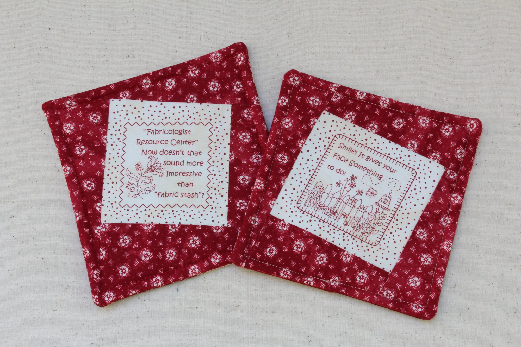 Hot Pads - Coordinating Set of 2 - Quotables