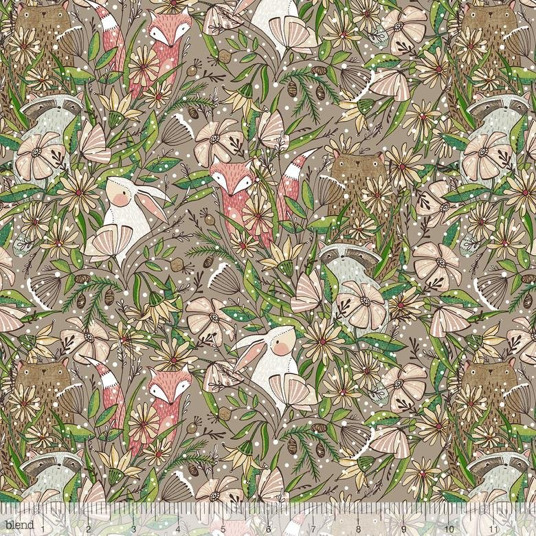 Winter News - Frolicking - Taupe
