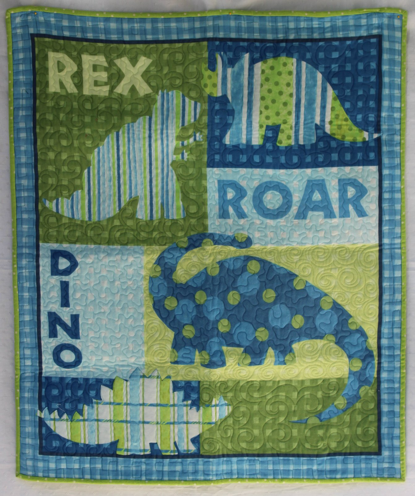 Flannel Dino Rex Roar - kit