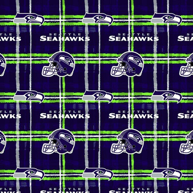 NFL - Flannel - Seattle Seahawks Plaid 1 yd cuts